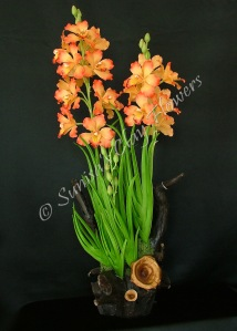 Cymbidium #06, 31 x 13 inches, $325